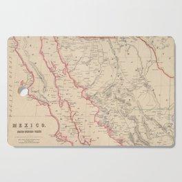 Vintage Map of Baja California (1857) Cutting Board