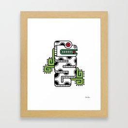 Koru-Fern Serpent Framed Art Print