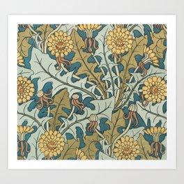 Art Nouveau Dandelion Pattern Kunstdrucke