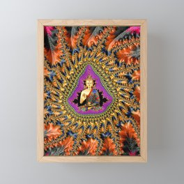 Buddha Mandelbrot Set Framed Mini Art Print