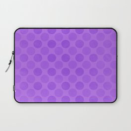 Faded purple circles pattern Laptop Sleeve