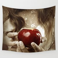 fairy tale Wall Tapestries featuring Fairy Tale by Judy Hung