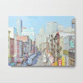 Chinatown - New York Travel Photography Metal Print