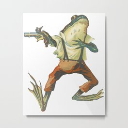 My First Duel: The Frog Metal Print