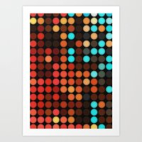 disco Art Prints featuring Disco by DuckyB
