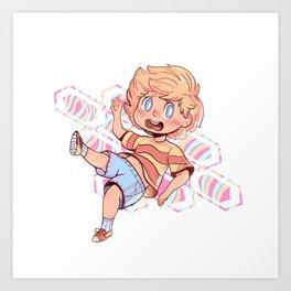 Lucas Sticker Art Print