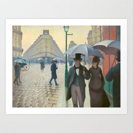 "Gustave Caillebotte ""Paris Street; Rainy Day"" Art Print"