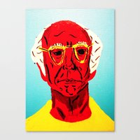 larry david Canvas Prints featuring Larry David 4 by Alyssa Underwood Contemporary Art