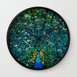 :: Peacock Caper :: Wall Clock