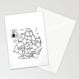 Brooklyn Vintage Map 1957  Stationery Cards