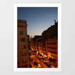Twilight in Burgos, Spain Art Print
