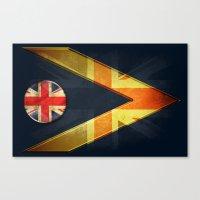 british flag Canvas Prints featuring British by ilustrarte