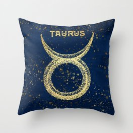 Taurus Zodiac Sign Throw Pillow