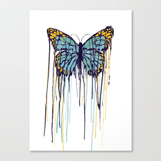 Melting Monarch (collab with Matheus Lopes) Canvas Print