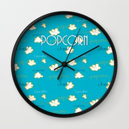 Popcorn Love Wall Clock