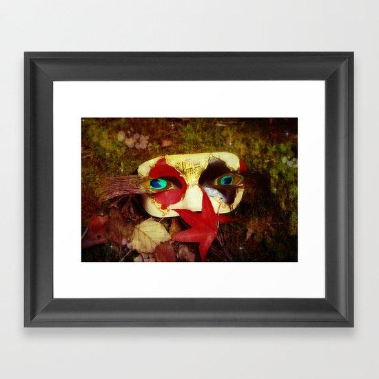 Woodland Masquerade Framed Art Print
