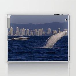 Humpback Whale Calf Breaching Off Surfers Paradise Laptop & iPad Skin