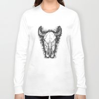 bull Long Sleeve T-shirts featuring BULL by Morgan Ralston