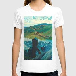 Canadian Landscape Franklin Carmichael Art Nouveau Post-Impressionism A Northern Silver Mine, 1930 T-shirt