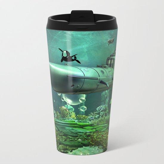 Awesome submarine Metal Travel Mug