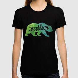 Father Watercolor Bear T-shirt