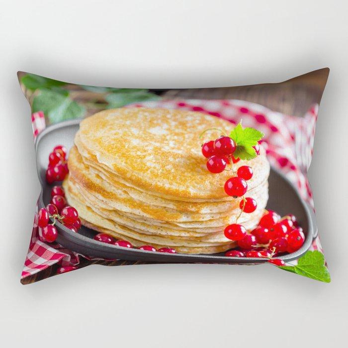 Pancake Floor Pillows: Sweet Pancakes With Jam Rectangular Pillow By Photo4you