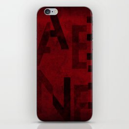 Cabernet Wine Typography iPhone Skin