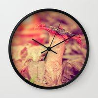 poetry Wall Clocks featuring Poetry by Light Wanderer