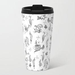 Seamless hand draw cartoon fairy fishes Travel Mug