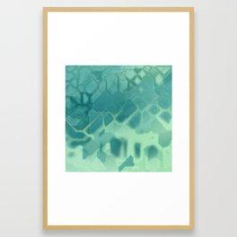 future fantasy turquoise Framed Art Print