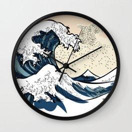 japan manga sea hokusai Wall Clock