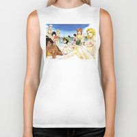 bleach Biker Tanks featuring Bleach on the Beach by Borsalino