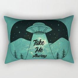 """Take Me Away"" UFO (Colour) Rectangular Pillow"