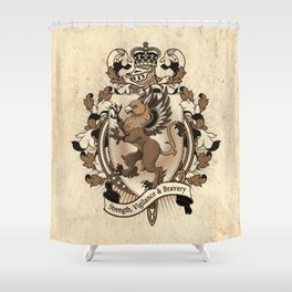 Gryphon Coat Of Arms Heraldry Shower Curtain