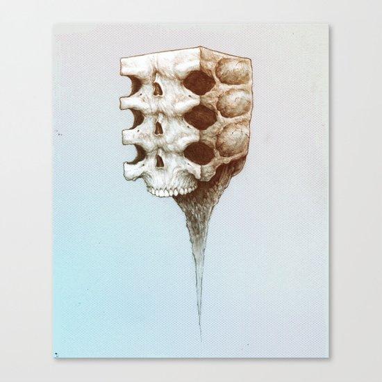 Skull Block Melt Canvas Print
