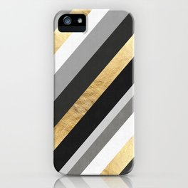 Gray and gold composition III iPhone Case