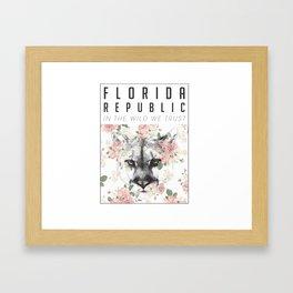 Florida Republic Floral Framed Art Print