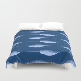 Narwhals are the Unicorns of the Sea Duvet Cover