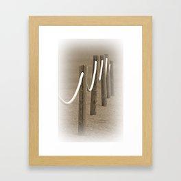 Remembering The Seaside Framed Art Print