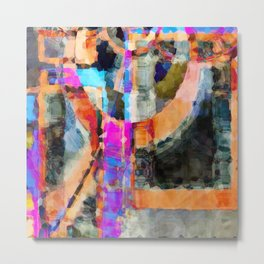 Artful Spirit Mosaic Colorful Geometric Abstract Metal Print