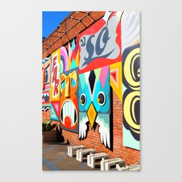 Colorful Venice Street Art Canvas Print