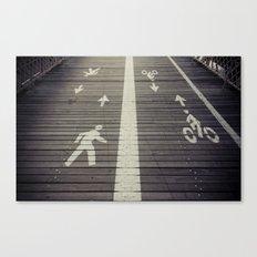 Brooklyn Bridge Footpath Canvas Print
