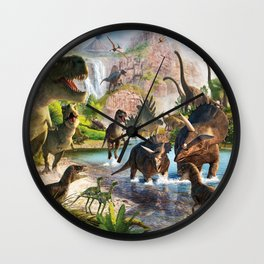 Jurassic dinosaur Wall Clock