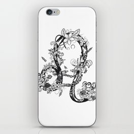 lion black and white zodiac sign iPhone Skin