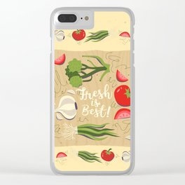 Fresh Is Best In The Kitchen Clear iPhone Case