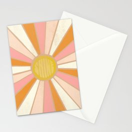 sundial shine, clay Stationery Cards
