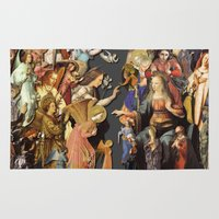 angels Area & Throw Rugs featuring Angels by Vesna Bursich
