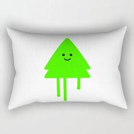Happy Xmas Tree Rectangular Pillow
