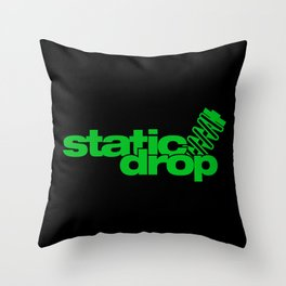 Static drop v5 HQvector Throw Pillow