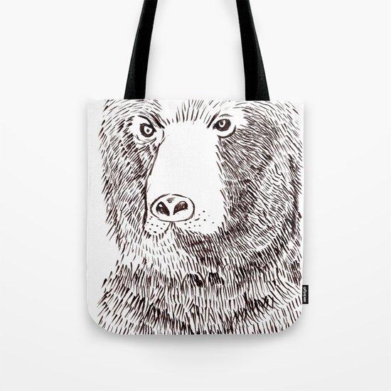 Hairy Beary Tote Bag